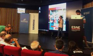 Presentación de la solución ganadora del premio Hackathon Nacional de Salud