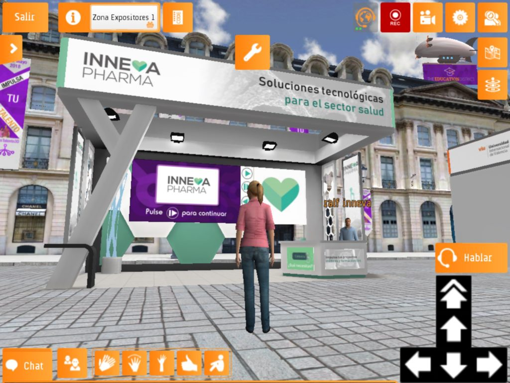 Stand de Inneva Pharma en el evento virtual