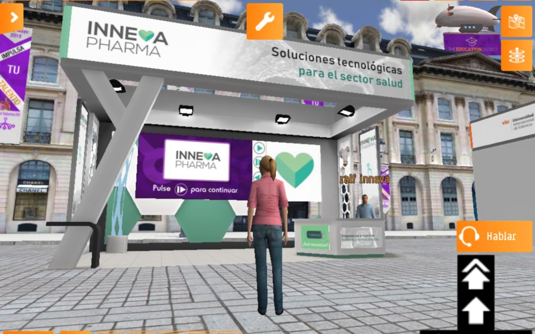 evento virtual stand Inneva Pharma alternativas digitales a reuniones